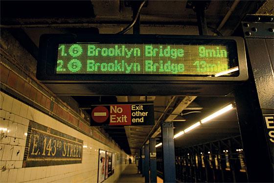 NYC Subway Countdown Clock