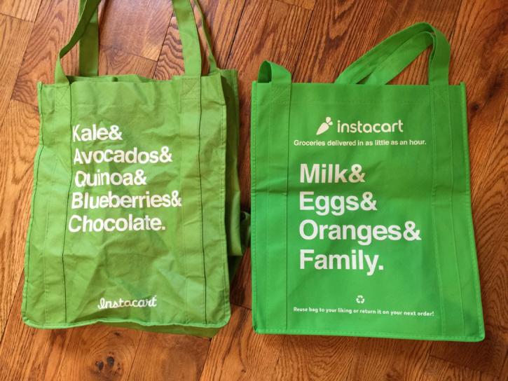 Reusable Instacart Grocery Bags
